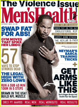 Jamie Foxx Covers 'Men's Health UK' October 2013