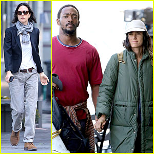 Jennifer Connelly & Anthony Mackie Hold Hands for 'Shelter'!