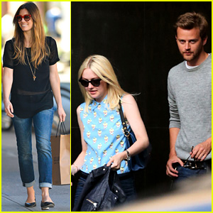 Jessica Biel & Dakota Fanning: U.S. Open Ladies!