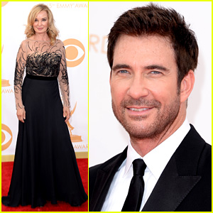 Jessica Lange & Dylan McDermott - Emmys 2013 Red Carpet