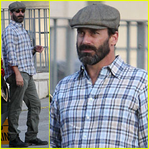 Jon Hamm Sports Scruffy Beard After 'Mad Men' Ending News