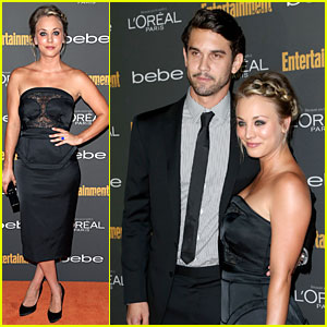Kaley Cuoco & Ryan Sweeting: EW Pre-Emmy Party!