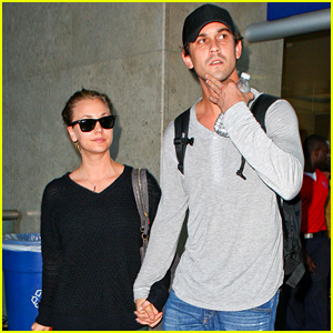 Kaley Cuoco & Ryan Sweeting Hold Hands at LAX Airport