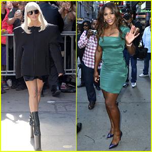 Lady Gaga & Serena Williams Exit 'Good Morning America'