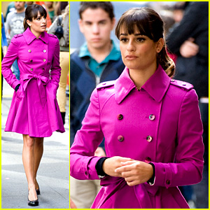 Lea Michele Films 'Glee' in New York City - First Photos!