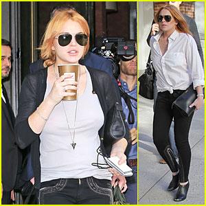 Lindsay Lohan Praises Bow Tie Designer Moziah Bridges!