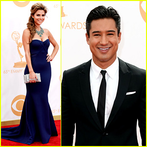 Maria Menounos & Mario Lopez - Emmys 2013 Red Carpet