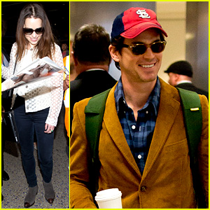 Matt Bomer & Emilia Clarke Land in Los Angeles for Emmys!