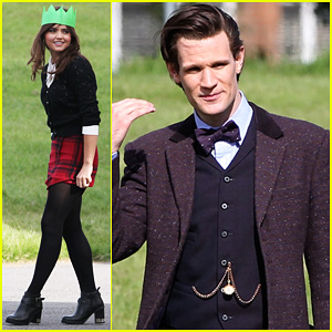 Matt Smith Films 'Doctor Who' Christmas Special with Jenna Coleman!