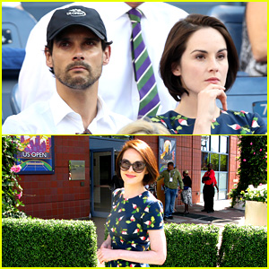 Michelle Dockery & Boyfriend John Dineen Watch U.S. Open!