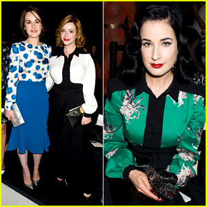 Michelle Dockery & Christina Hendricks: Carolina Herrera Show!