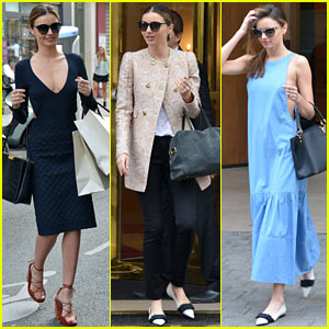 Miranda Kerr Changes Outfits During Paris Fashion Week!