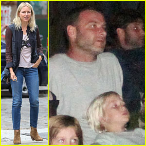Naomi Watts & Liev Schreiber: Hamptons Family Movie Night!