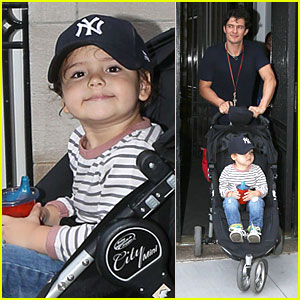 Orlando Bloom & Flynn: Babysitter Stop Before U.S. Open Final!
