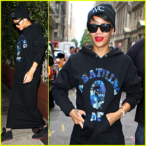 Rihanna Dines at Favorite Restaurant Before Jetting to NYC