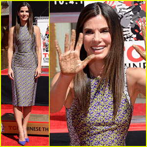 Sandra Bullock Receives Hand & Footprint at TCL Chinese Theatre!