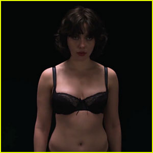 Scarlett Johansson Sports Black Bra in 'Under the Skin' Trailer!
