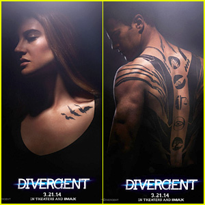 Shailene Woodley & Theo James: New 'Divergent' Posters!