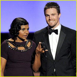 Stephen Amell: Emmys 2013 with Mindy Kaling!