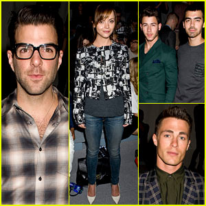 Zachary Quinto & Christina Ricci: Richard Chai Fashion Show!