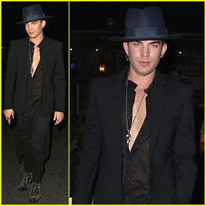 Adam Lambert Sings Lady Gaga in 'Glee' Promo - Watch Now!