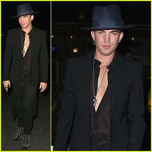 Adam Lambert Sings Lady Gaga in 'Glee' Promo - Watch Now!