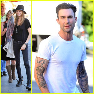 Adam Levine Grabs Dinner with Behati Prinsloo & Her Parents!