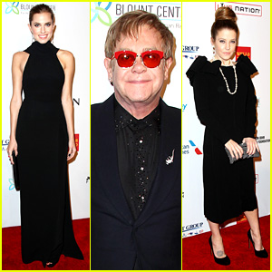Allison Williams & Lisa Marie Presley: Elton John AIDS Foundation Gala!