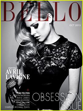 Avril Lavigne Covers 'Bello' Magazine October 2013