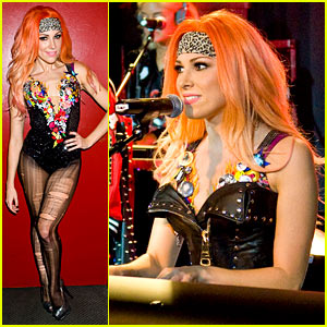Bonnie McKee Performs at Just Jared Halloween Party 2013!