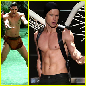 Chord Overstreet: Shirtless as Lady Gaga in New 'Glee' Stills!
