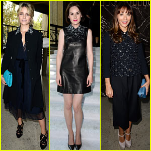 Dianna Agron & Michelle Dockery: Miu Miu Paris Fashion Show!