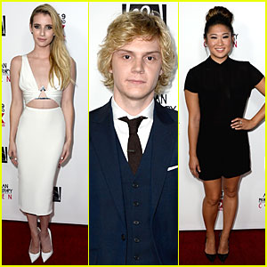 Emma Roberts & Evan Peters: 'American Horror Story: Coven' Premiere!
