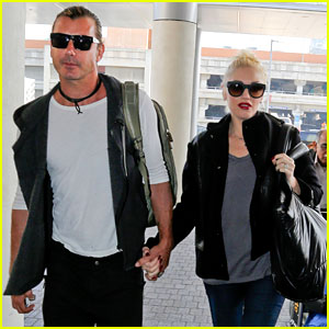 Gwen Stefani & Gavin Rossdale Fly Out of Los Angeles