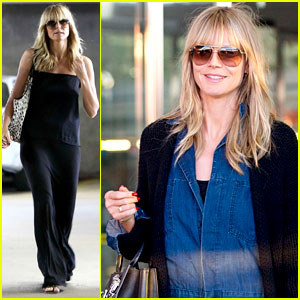 Heidi Klum Lands in NYC After L.A. Hospital Visit