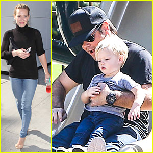 Hilary Duff: Mike Comrie Slides with Luca!