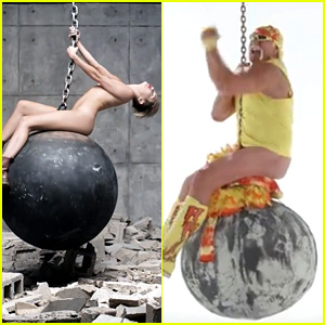 Hulk Hogan Spoofs Miley Cyrus' 'Wrecking Ball' Video - Watch!