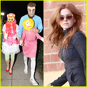 Isla Fisher & Sacha Baron Cohen: Casamigos Halloween Party 2013!