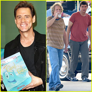 Jim Carrey & Jeff Daniels Continue Filming 'Dumb & Dumber To'!