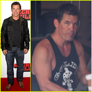 Josh Brolin Works Out, Attends 'Machete Kills' Premiere