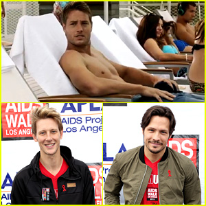 Justin Hartley Goes Shirtless, 'Revenge' Stars Attend AIDS Walk