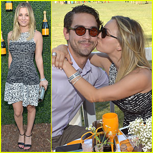 Kaley Cuoco & Ryan Sweeting: Veuve Clicquot Polo Classic Kiss!