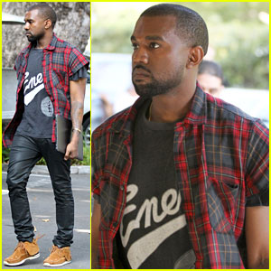 Kanye West Steps Out After Kim Kardashian Engagement