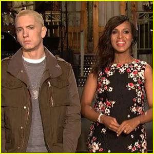 Pregnant Kerry Washington: New 'SNL' Promo with Eminem!