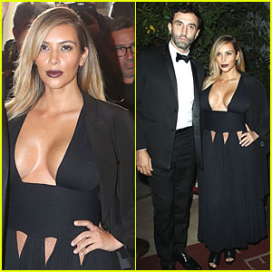 Kim Kardashian Bares Cleavage at 'Mademoiselle C' Party!