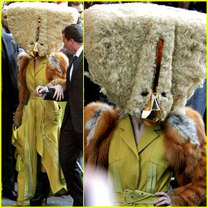 Lady Gaga Wears Giant Furry Headpiece for 'ARTPOP' Promo!