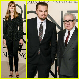 Leonardo DiCaprio & Hilary Swank: Giorgio Armani 'One Night Only' in NYC