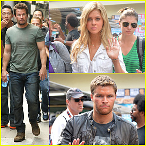Mark Wahlberg Films 'Transformers 4' in Hong Kong with Nicola Peltz & Jack Reynor
