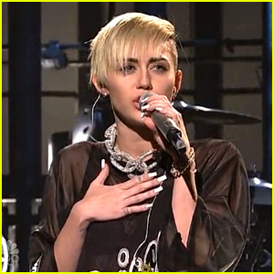 Miley Cyrus Performs 'Wrecking Ball' on SNL - Watch Now!