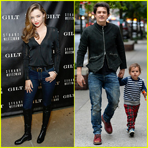 Miranda Kerr Launches Stuart Weitzman & Gilt Pop-Up Shop